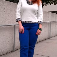 Fashion Friday: Cobalt & Minty Checks