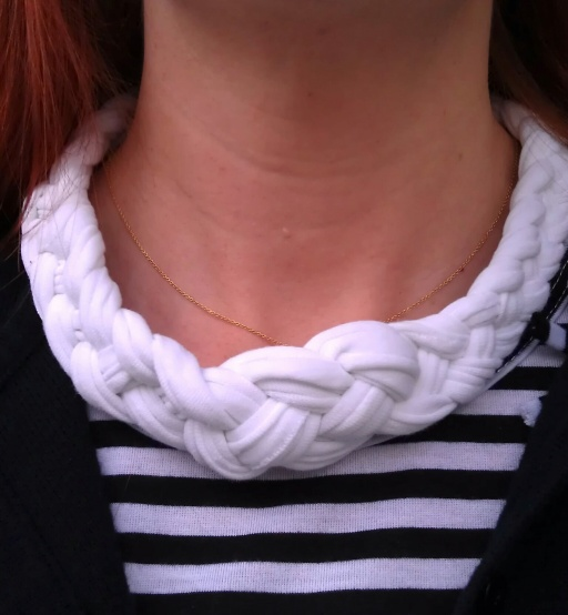 DIY Statement Necklace, T-shirt to Statement Necklace, Celtic Knot, Braids
